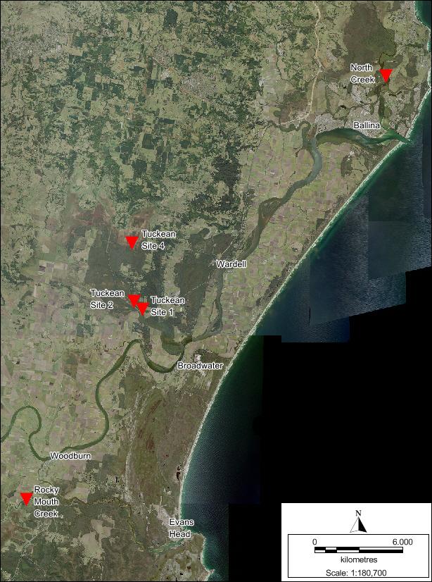 Datalogger locations